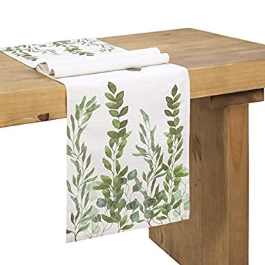 Ling's moment Dinning Table Runners 72 Inch Farmhouse Decoration, Country Wedding Table Runner, Bridal & Baby Shower Décor,Spring Wedding Table Runner