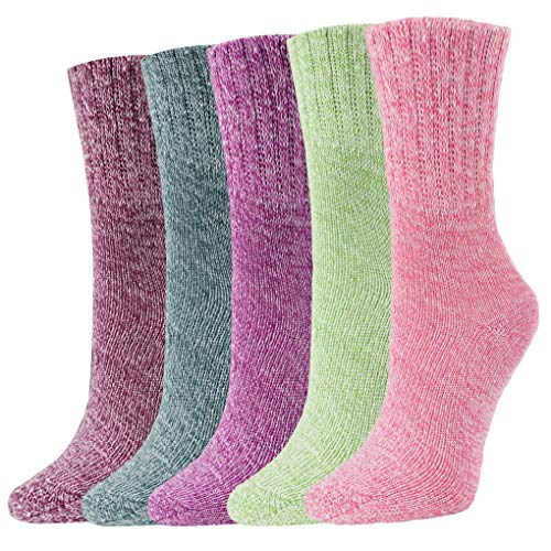 Women Fashion Socks Thick Casual Socks Vintage Style Knit Socks for Women Warm Colorful Cute Pattern Socks Soft Comfy Dress...