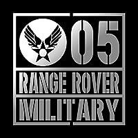 ミリタリー RANGE ROVER レンジローバー カッティング ステッカー シルバー 銀