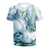 Impresión Digital 3D Camiseta Animal Print Europea y americana-5XL