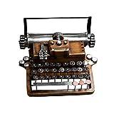 Estatua modelo de máquina de escribir vintage, decoración máquina escribir antigua, artesanías material resina, diseño retro, utilizado para decoración ventana gabinete vino mostrador cafetería hogar