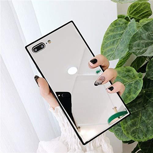AAA&LIU Mirror Square Phone Case para iPhone 12 Mini 11 Pro MAX XR XS MAX 7 8 6S Plus Soft TPU Side + PC Full Body Phone Cover, A, para iPhone 11 Pro