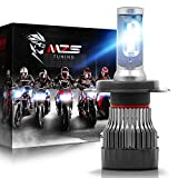 MZS H4 LED Bulb Single for Motorcycle,9003 HB2 Mini Conversion Kit - Chips - 6500K Extremely Bright