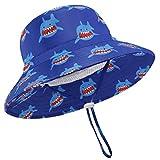 JUPSK Cappello da Pescatore per Bambini,Cappello da Sole Unisex a Tesa Larga, Cappello da Spiaggia Pieghevole con Mento Regolabile UPF 50+ e Cappello da Gioco all'aperto