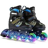 WeSkate Inline Skates Kinder/Erwachsene verstellbar Inliner mädchen/Jungen Rollerskates Rollschuhe mit PU Verschleißfeste Roller Skates Herren/Damen Größe 31-42