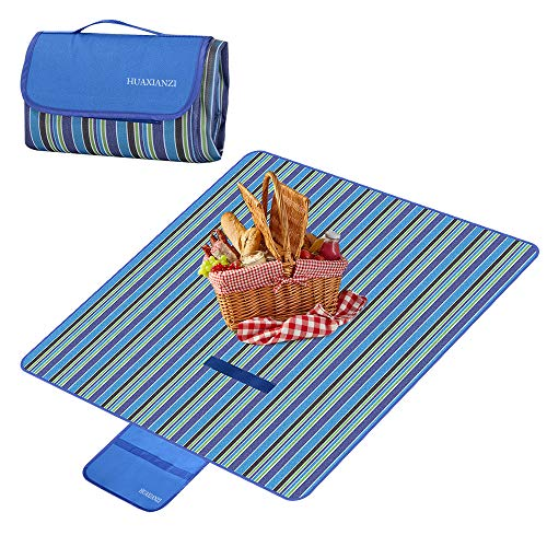 Camping Blankets Beach Blanket Cover 59inch x 78inch The Best Sand Proof Picnic mat Suitable for Travel campingleisure Outdoor mat Waterproof and Moisture Proof sandproof Portable Portable mat Blue