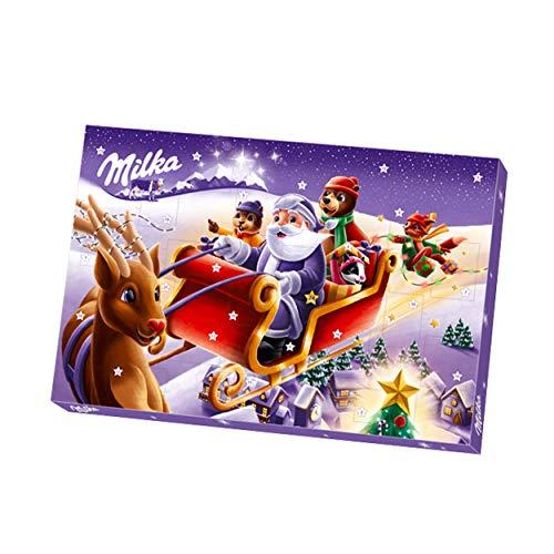 Milka – Calendrier de l'Avent – 24 Surprises Chocolatées pour Noël – Boîte de 200 g