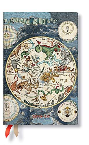 Paperblanks 18-maandenplanner & kalender | juli 2019 - december 2020 | Hemelse kaart | week voor week (horizontaal) | Mini (140 x 95 mm)