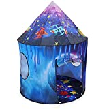 Kinder Sterne Kids Play Tent for Indoor and Outdoor - Pop Up Children Playhouse for Girl and Boy - EN 71 Certified - Rocket Space Tent with Carry Case– 3 Years Old and Up