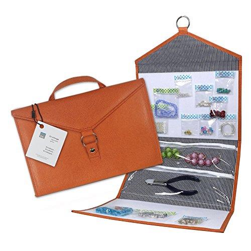 Envelope by Kit xChange Storage System Orange Bead Jewelry Crafts Scrapbook Hook Loop