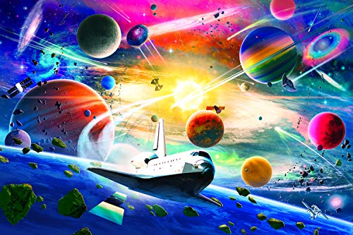 Space Exploration Galaxy Puzzle for Adults and Kids   Difficult 1000 Piece Jigsaw Puzzle Toy   Brain Teaser Challenge for Game Night   Fun Quarantine Gift