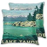 1 Packung Dekokissen Wohnkultur Couch Kissenbezug Lake