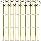 Surepromise 15 Sets Gold Metallstange Mittellochausstech für 2 bis 3 Etagere Etage Torten Hochzeitstorte Tortenständer