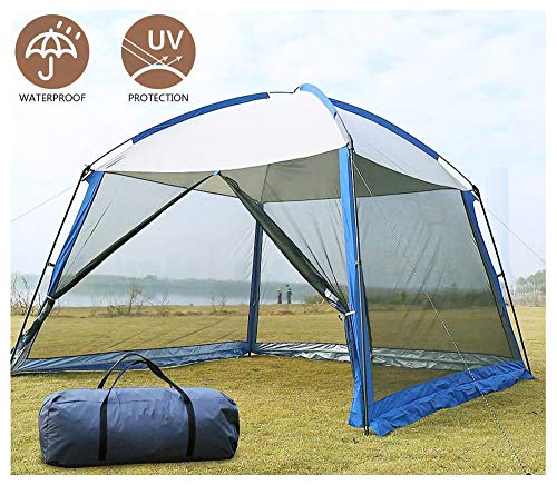 HNHN Pop Up Gazebo, Event Shelter Party Tent with Mesh Wall Sides and Storage Bag, Waterproof, UV Protection, for Gardens Camping BBQ,3.3 x 3.3 x 2.4m