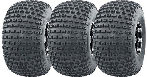 WANDA 3 New 3 Wheeler ATV Tires 22X11-8 4PR P322 Dimple Knobby - 10026