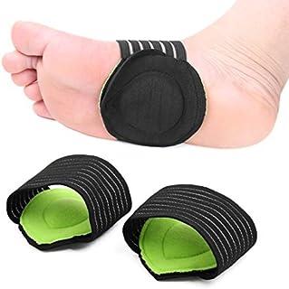 eDealMax 1 Par Verde Negro Un tamaño arco de soporte Con Comfort Gel-Cojines fascitis