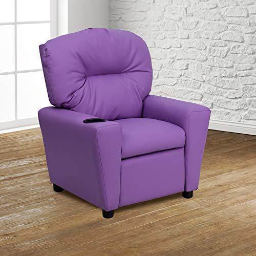 Flash Furniture Contemporary Lavender Vinyl Kids Recliner