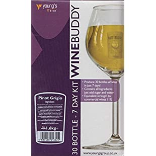WineBuddy Pinot Grigio 30 Bottle - Home brew Wine Making Kit