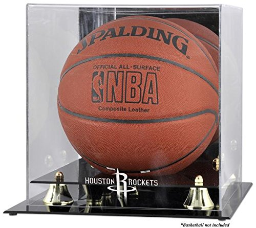Mounted Memories Houston Rockets Golden Classic Team Logo Basketball Display Case