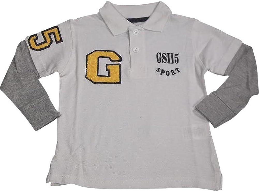 GS-115 - Little Boys Long Sleeve Polo Top