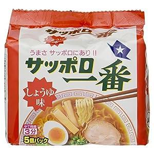 """サンヨー食品 サッポロ一番しょうゆ味 5食入"""""""