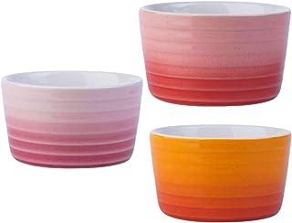 Angoily en Céramique Ramequins Porcelaine Plats Dessert Crème de Cuisson Tasses Ronde en Céramique Pudding Tasse Bols Rame...