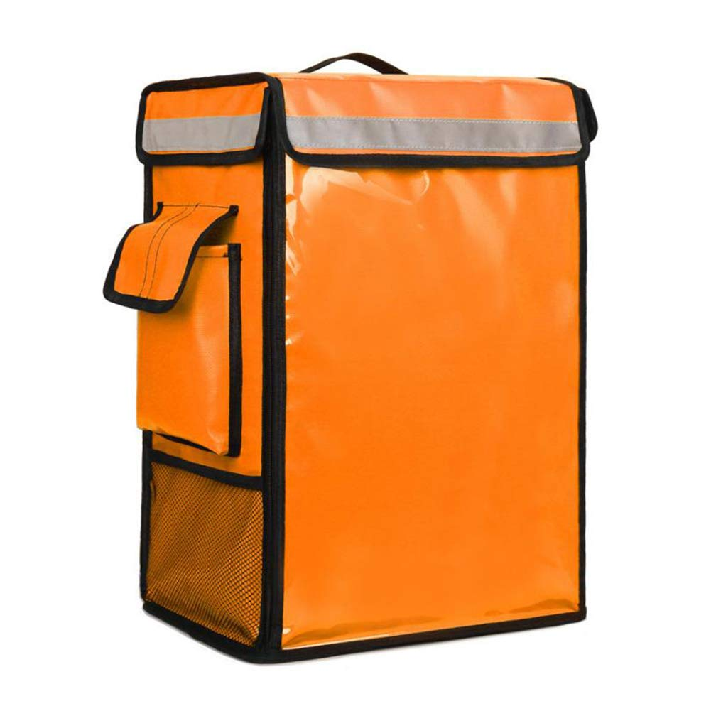 Food Delivery Bag Insulated Backpack, Waterproof Uber Eats Pizza Delivery Bag Backpack, Food Service Commercial Transport Box Portable Cooler (Orange)