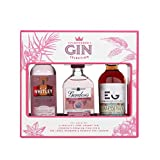 Pink Gin Trio Gift Set for Women and Men, 3 x