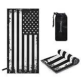 ALAZA Grunge USA American Flag White & Black Quick Dry Bath Towel...