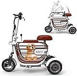 Silla de ruedas de ayuda a la movilidad, Tranvía de Tres Ruedas Scooter adultos, cómodo y seguro, 15A batería de litio / 60-70KM / Carga 280KG for mujeres viajan al aire libre, es su mejor opción