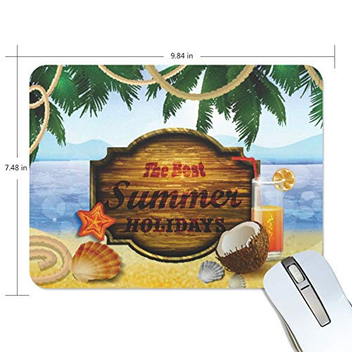 playroom Game Mouse pad Design Beach Coconut Shells Extended Ergonomic for Computers Mouse mat Custom-Made
