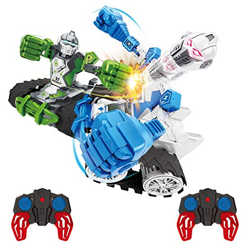 Pidoko Kids Knock-O-Bots - RC Controlled Robot Boxing - Includes 2 Fighting Robots - Knock Out bot Head and Win - Battle Toys for 3 Year Old Boys and Up