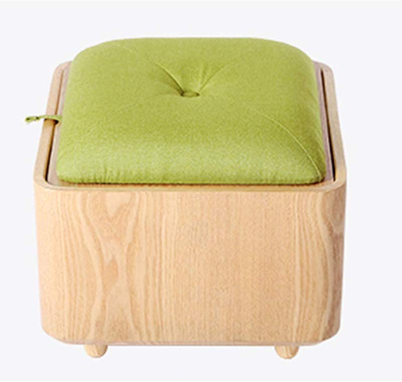 Storage Stool Multi Function Toy Storage Stool Can Sit Shoes Bench Solid Wood Sofa Stool Creative Simple Stool 200kg Weight Bearing Sofa Stool