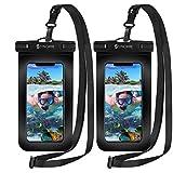 2枚セット [2020最新版] Syncwire 防水ケース スマホ用 IPX8認定 保護密封 iPhone 11 Pro XS MAX XR X 8 7 6s 6 Plus SE 5s Samsung galaxy S10 S9 Huawei P30 P20 Mate20 Proに対応 7インチ以下多機種対応 水中撮影 お風呂 海水浴 水泳など適用 透明