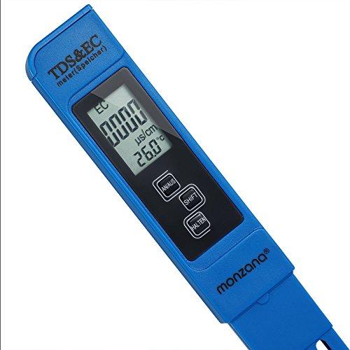Monzana 3 in 1 TDS EC PH Messgerät Digitaler Wassertester | mit LCD Anzeige | Batterie - verschiedene Modelle
