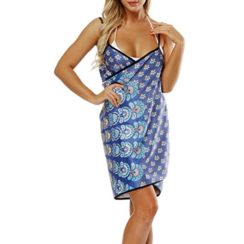 Zhhlinyuan Mujeres Impresión Digital Toallas de Playa Absorbente Suave Honda Toalla de Baño Swim Towel para Summer Vocation