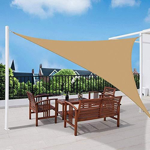 'N/A' Parasol, toldo de protección Solar de Tela Oxford Impermeable para jardín al Aire Libre, Patio, con 3 Cuerdas Gratis(Size:6×6×6m,Color:de Color Crema)