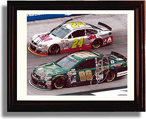 Framed NASCAR Dale Earnhardt Jr. and Jeff Gordon Autograph Replica Print