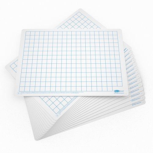Whiteboards A3, kariert, Packung klein