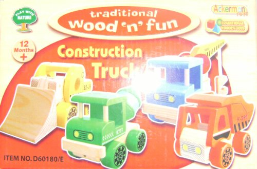 Traditional Wood 'n' Fun Construction Truck Green