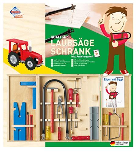 Pebaro großer Laubsäge-Schrank Klassiker mit Kinderwerkzeug