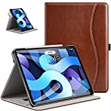 ZtotopCase for iPad Air 4 Case 2020, iPad Air 4th Generation 10.9' Case with 360 Rotating, Leather Slim Folio Stand Cover with Auto Sleep/Wake, Brown