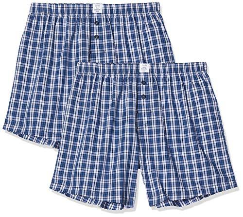 ESPRIT Herren AUBEHRT Woven Shorts Boxershorts, Blau (Navy 2 401), X-Large (Herstellergröße: XL) (2er Pack)