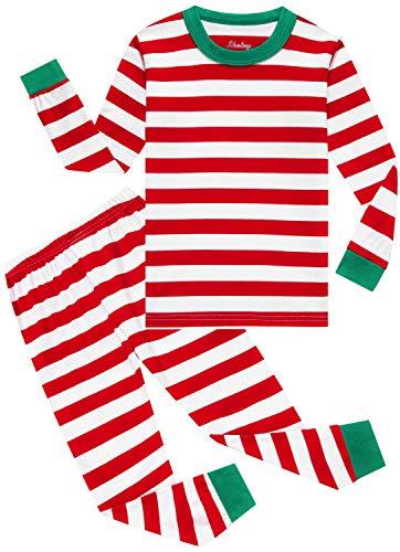 Boys Christmas Pajamas Children Cotton Clothes Kids Pjs Pants Set Red Size 12 Years