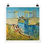Bilderwelten Poster - Vincent Van Gogh - Drawbridge In Arles Cuadrado, Brillante 70 x 70cm...