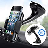 Car Phone Mount Holder Universal Dashboard Windshield Phone Stand 360 Rotating by LotFancy