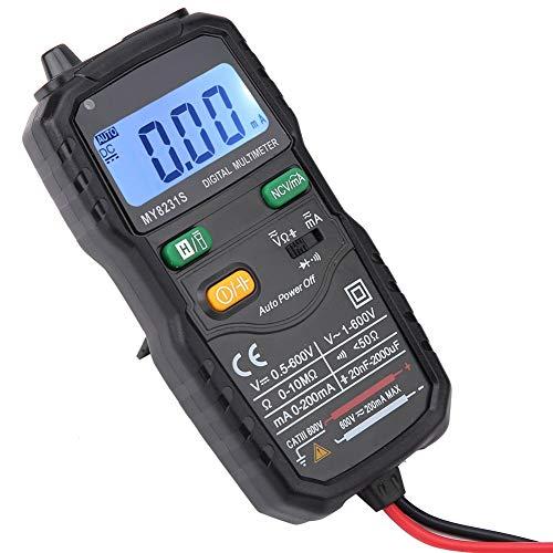 2000 cuentas de instrumento digital para electricista, medidor de datos, multímetro AC y CC, pantalla LCD retroiluminada automática para la oficina para interiores y exteriores