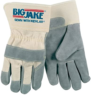 Memphis glove 1700S Big Jake Cow Leather Sewn Kevlar Gloves with 2-3/4-Inch Safety Cuff