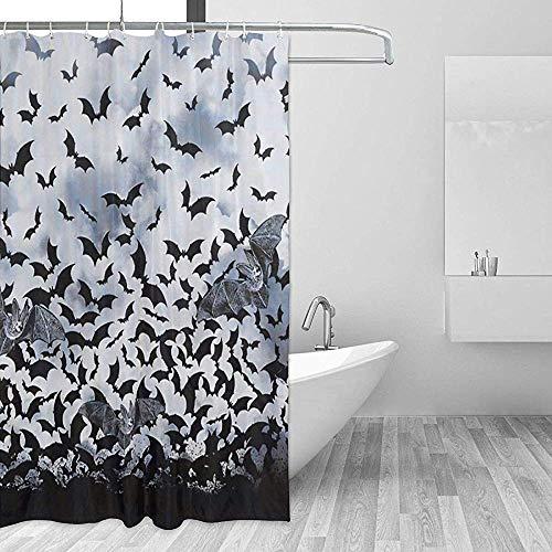 Badewannenvorhang Duschvorhänge Goth Fledermäuse Bad Vorhänge Badezimmer Set Mit Haken Startseite Bad Wasserdicht Badewanne Fenster Zubehör