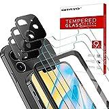QITAYO Protector de Pantalla para iPhone 12 Max (6.1') y Protector de lente de cámara para iPhone 12 Max cámara, [9H Dureza] [Alta Definicion] Cristal Templado para iPhone 12 Max